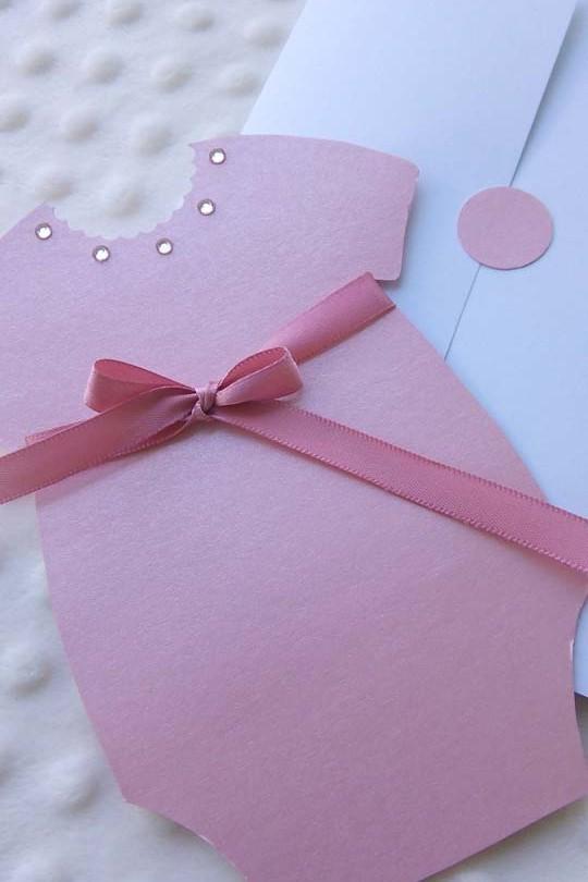 invitatie de botez handmade Lady Boo