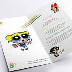 Invitatie de botez cu Power Puff Girls