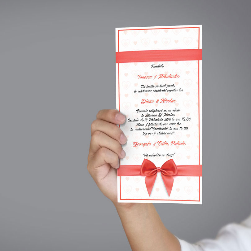 Invitatie de nunta moderna cu tema Wedding Cats