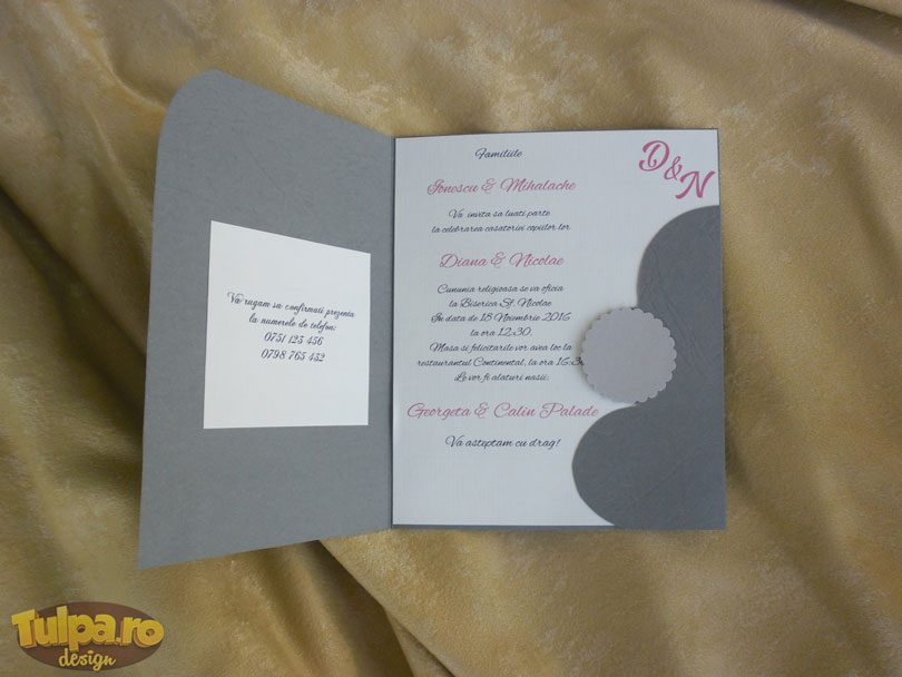 Invitatie de nunta originala, disponibila doar pe Tulpa.ro