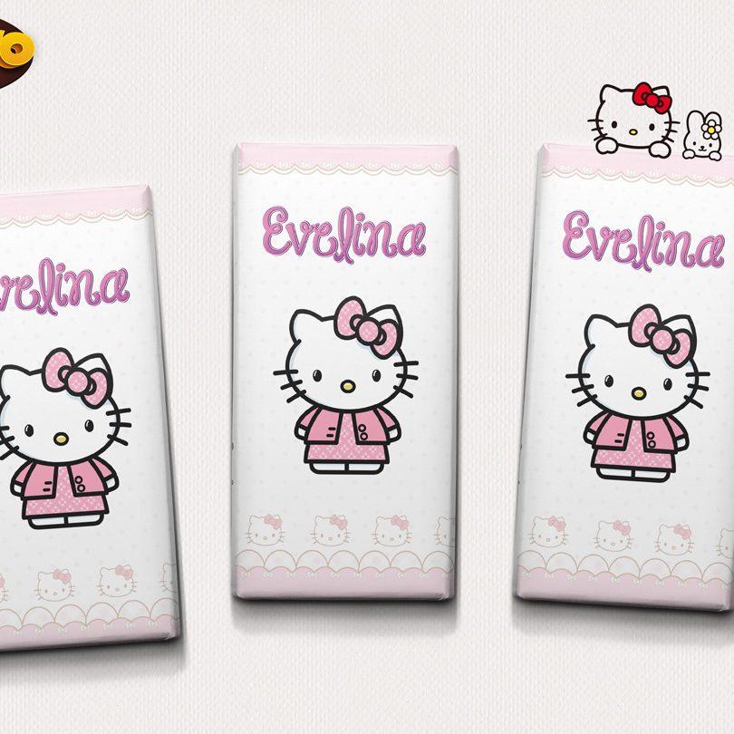 Invitatie de botez delicioasa cu Hello Kitty