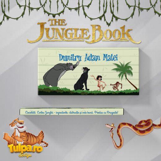 Invitatie de botez ciocolata cu tema Cartea Junglei 6