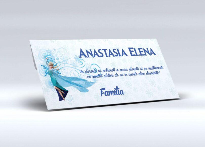 Alege pentru botezul fetitei tale aceste plicuri pentru bani cu Elsa