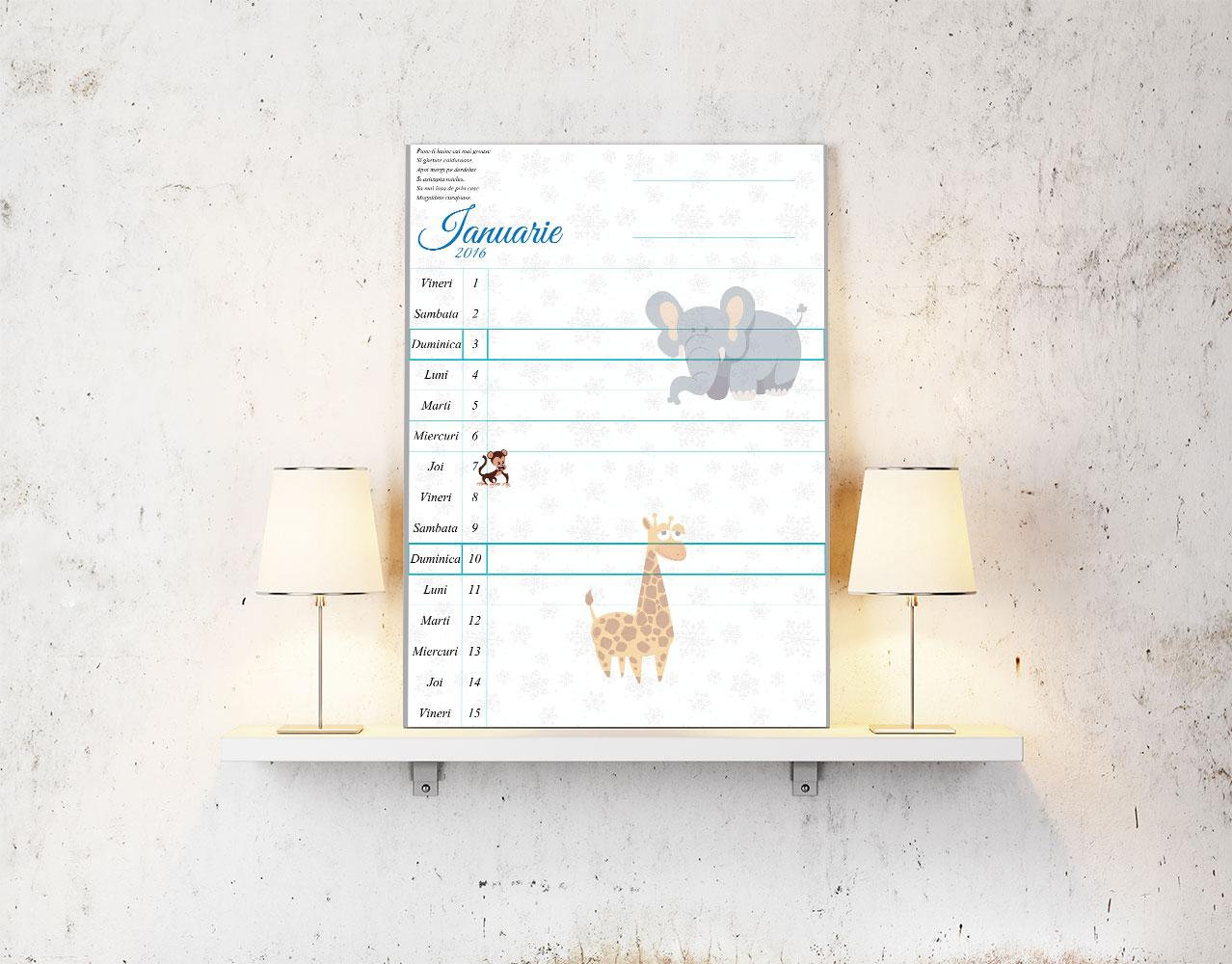 Descarca gratuit un calendar pentru bebelusi, pe Tulpa.ro