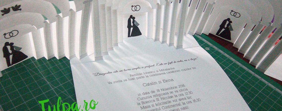 Invitatii de nunta tridimensionale originale