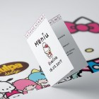 Meniu personalizabil pentru botez cu tema Hello Kitty