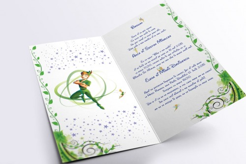 Invitatii de botez cu Peter Pan