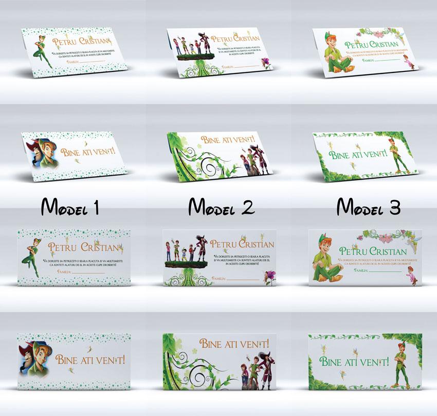 3 modele originale de plicuri pentru bani pentru botez cu Peter Pan