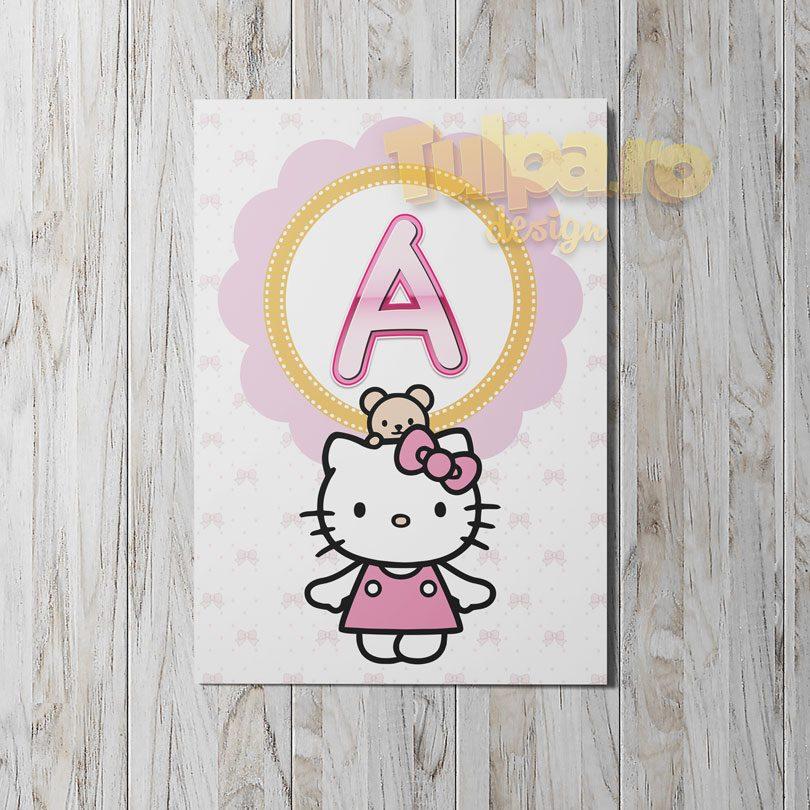 ghirlanda cu Hello Kitty pentru botez, modelul 1