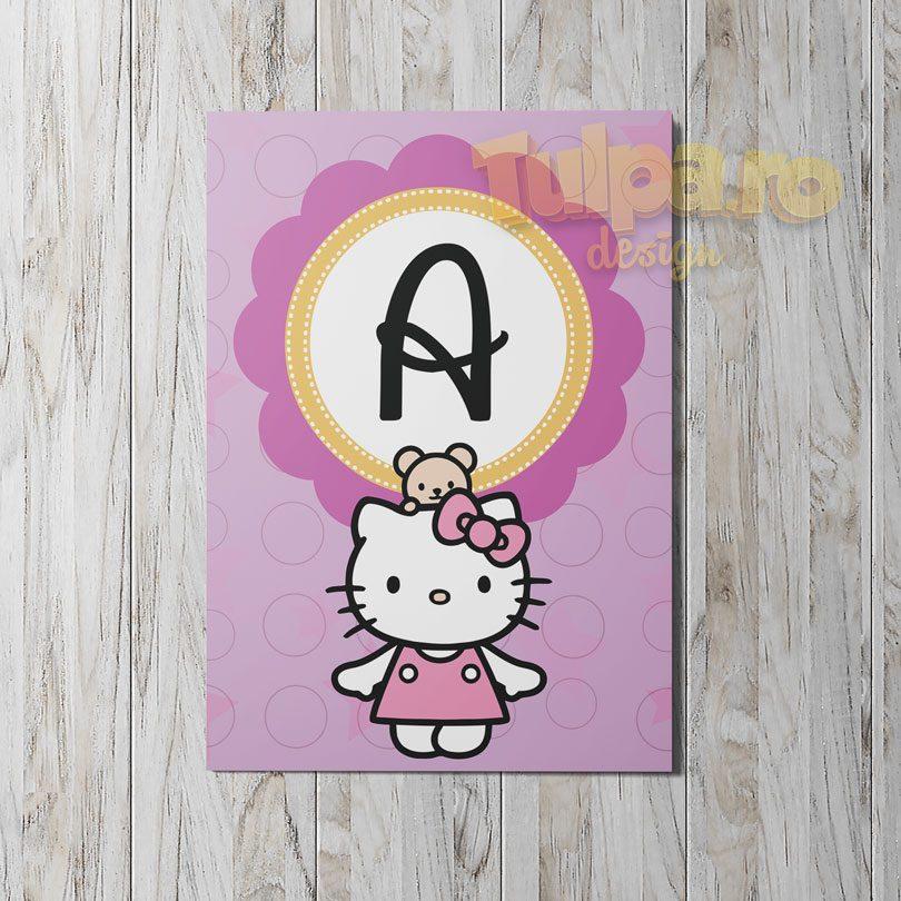 ghirlanda cu Hello Kitty pentru botez, modelul 4