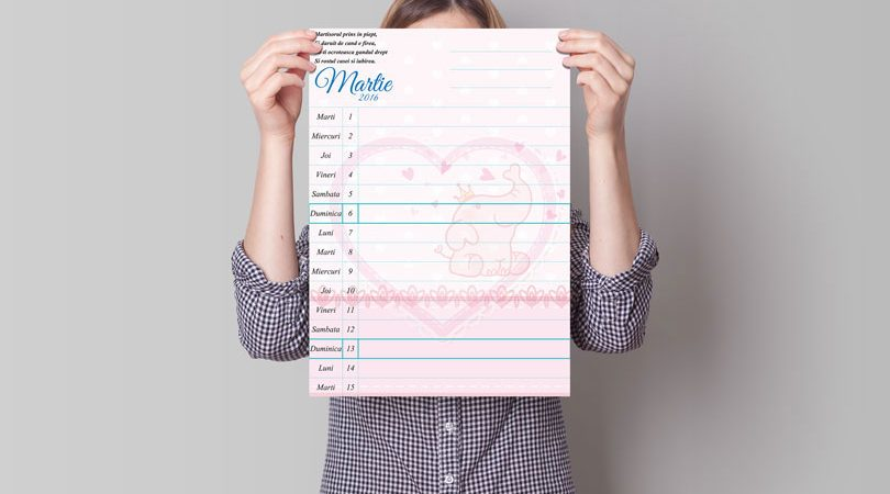 calendar pentru bebelusi