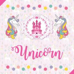 Set pentru botez cu Unicorni multicolori