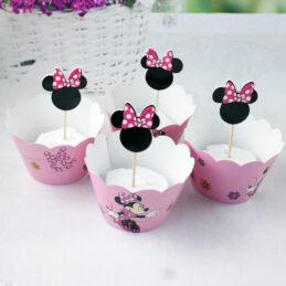 Cupcakes şi scobitori Candy Bar cu Minnie
