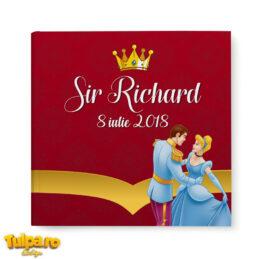 Carte amintiri cu Prinţi şi Prinţese pentru invitaţii la botezul bebeluşului. Disponibil la comandă pe orice temă. Grafică gratuită!