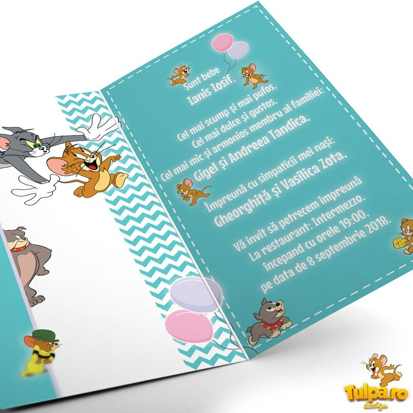 invitatie botez Tom si Jerry