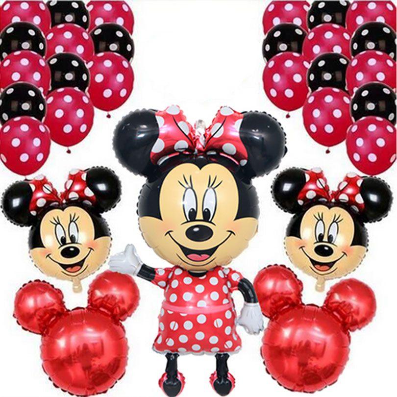 set baloane minnie mouse
