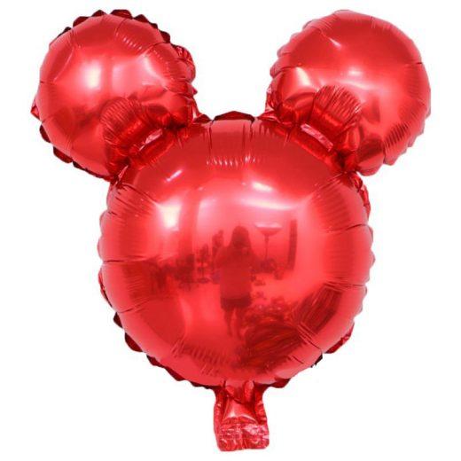 baloane Mickey Mouse, roşu metalizat