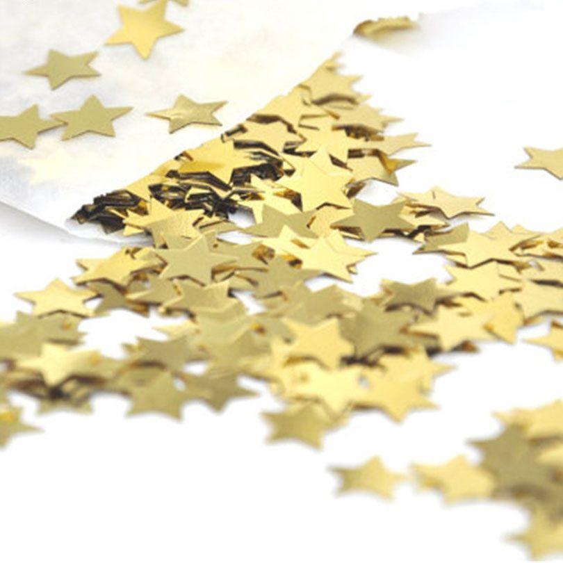 Confetti aurii in forma de stelute