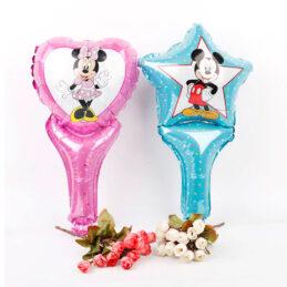 Baloane cu Mickey şi Minnie Mouse, 4 modele la alegere. Baloanele sunt perfecte în combinaţie cu setul pentru botez cu Mickey Mouse.