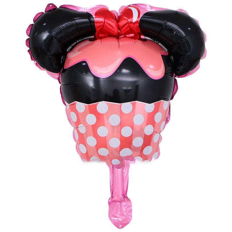 Balon cu Minnie Mouse în formă de brioşă