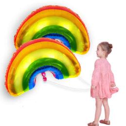 Balon Curcubeu de dimensiunea mare, perfect in combinatie cu setul curcubeu