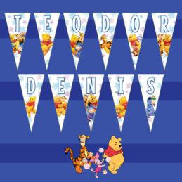 Ghirlanda triunghi cu Winnie the Pooh