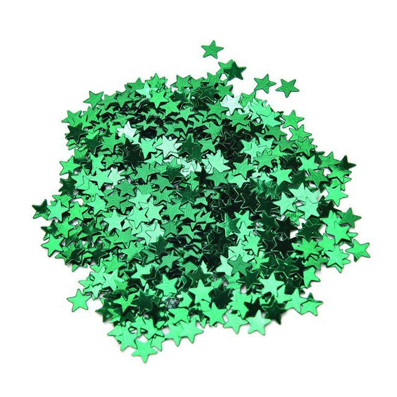 Confetti verzi în formă de steluţe