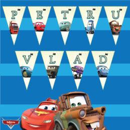 Ghirlandă Cars pentru Candy Bar