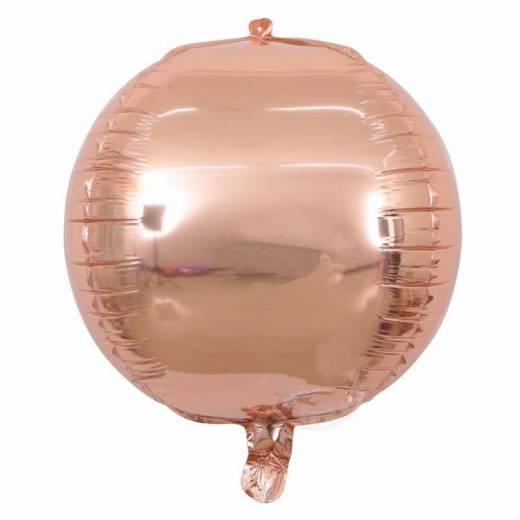 Baloane roz metalizate rotunde 4D, cu formă deosebită.