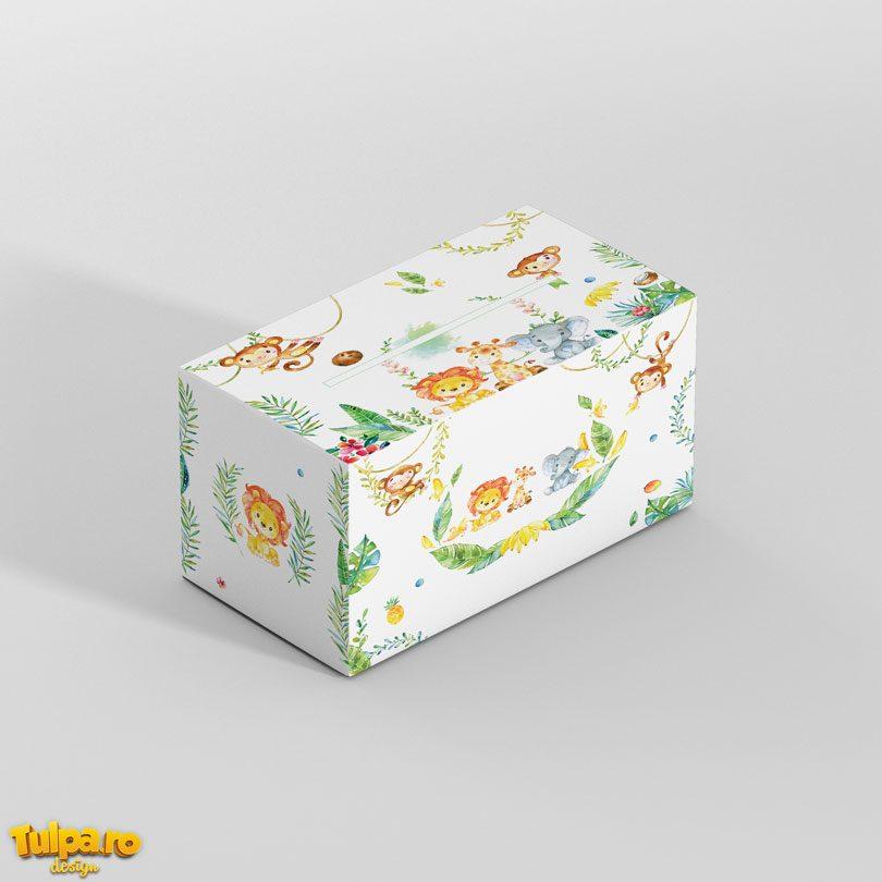 Cutie cu animăluţe pentru plicurile de bani - Safari.