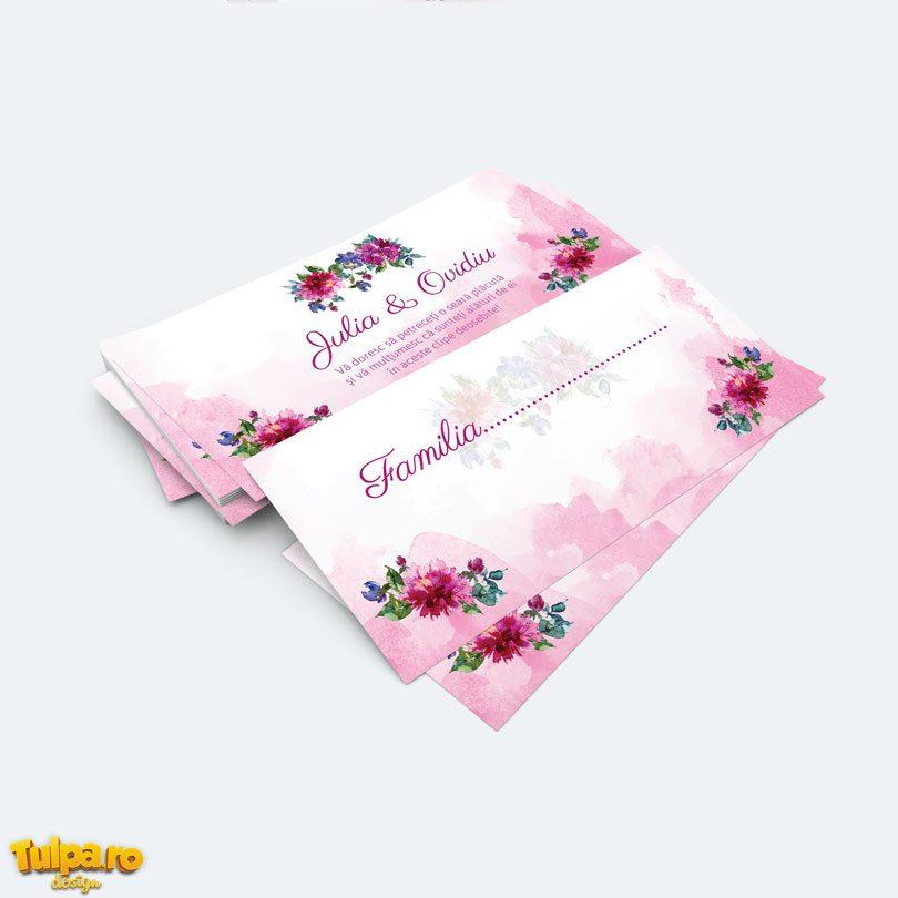 Plic pentru bani Watercolor Rose Floral