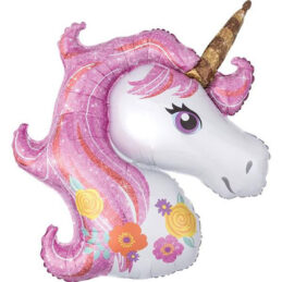 Balon unicorn gigant, perfect pentru botezul prinţesei