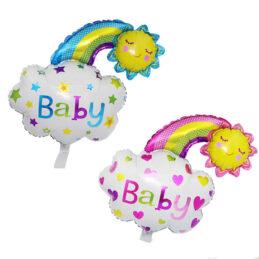 Baloane norisor Baby, culori roz si albastru
