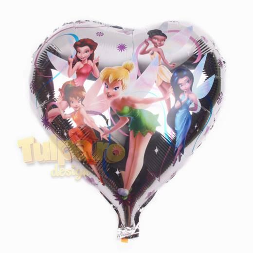 Baloane rotunde cu Clopoţica, culoare argintie