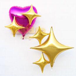 Baloane formă de stea, culoare aurie