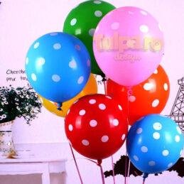 baloane colorate din latex cu picatele Polka Dots