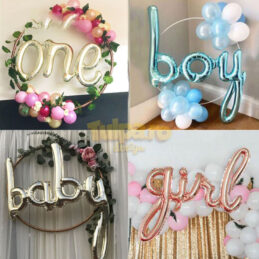 Baloane text Baby Boy, Baby Girl