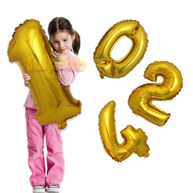 Baloane cu cifre pentru aniversări, dimensiune mare