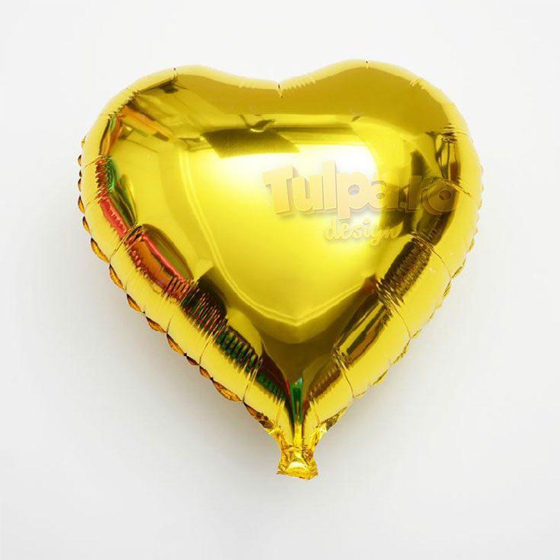 baloane forma de inima de culoare aurie