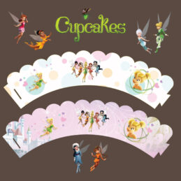 Cupcakes cu Clopoţica, decoraţiune pentru brioşe