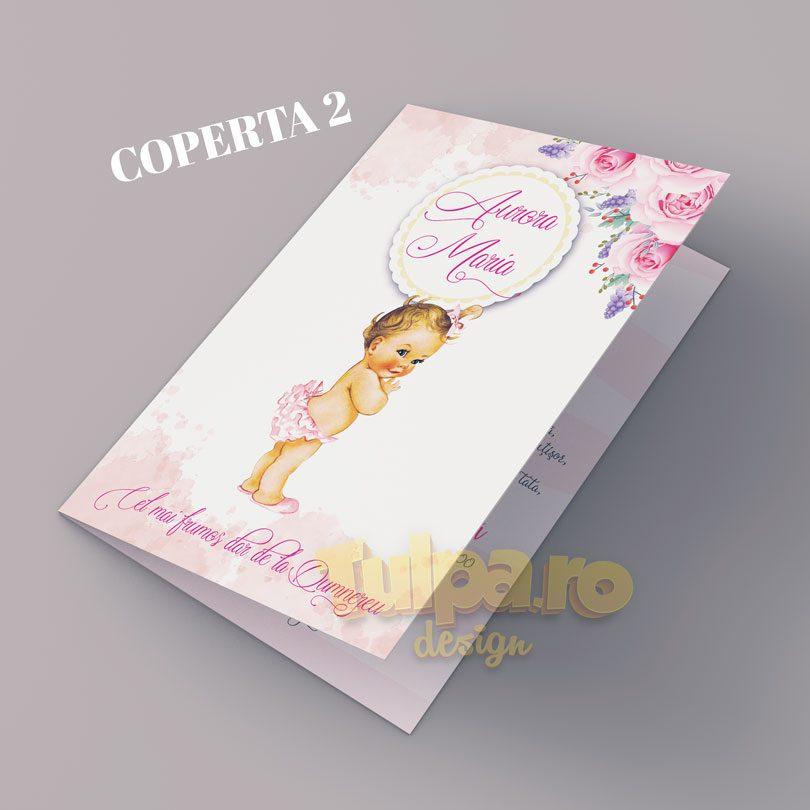 Invitaţie botez Mica Prinţesă, cu 2 variante pentru coperta.