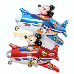 Baloane cu Mickey Mouse in Avion