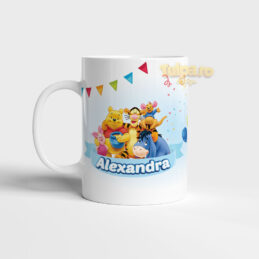 Cană cu Winnie the Pooh personalizată cu nume