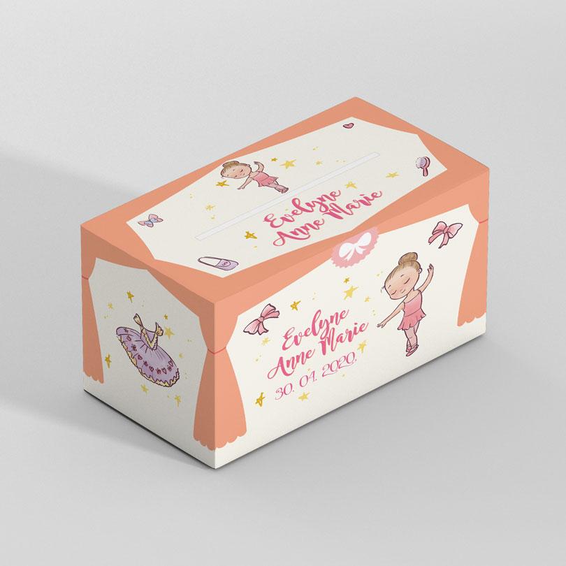 Cutie pentru plicuri cu Balerina