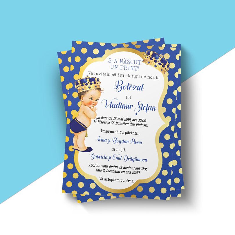 Invitaţie de botez Micul Prinţ