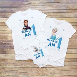 Set de tricouri pentru tăiere de moţ cu Frozen
