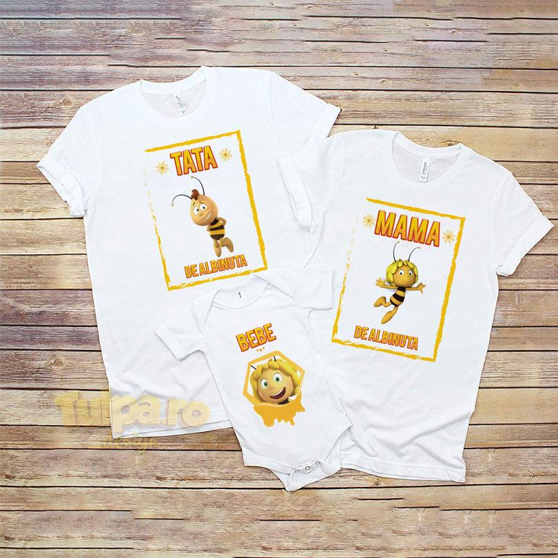 Tricouri personalizate pentru tăiere de moţ cu Albinuţa Maya