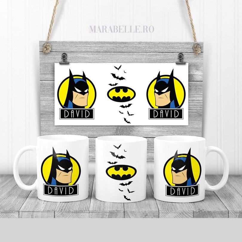 Cană cu Batman, personalizată cu nume