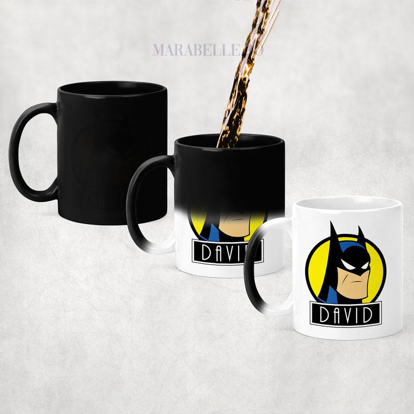 Cană cu BatCană cu Batman, personalizată cu numeman, personalizată cu nume