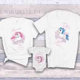Set de tricouri şi body cu Unicorn pentru tăiere de moţ